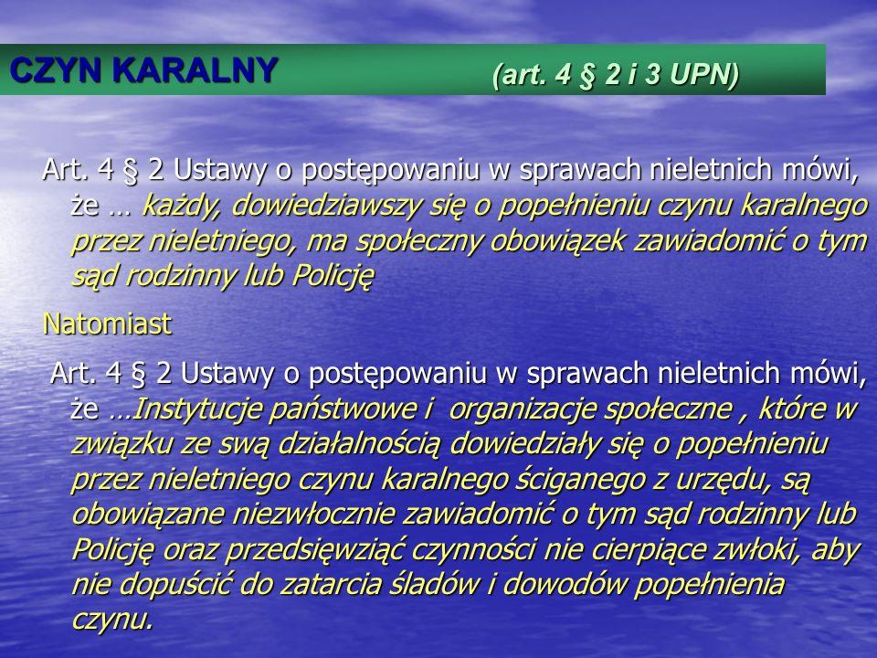 CZYN KARALNY (art. 4 § 2 i 3 UPN)