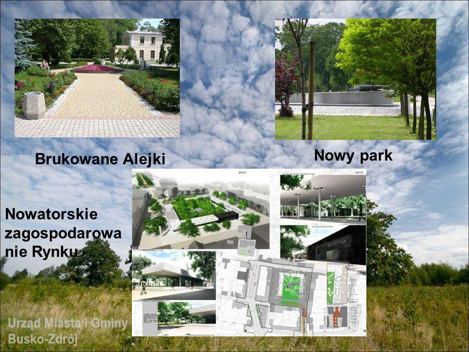 Nowy park Brukowane Alejki Nowatorskie zagospodarowanie Rynku