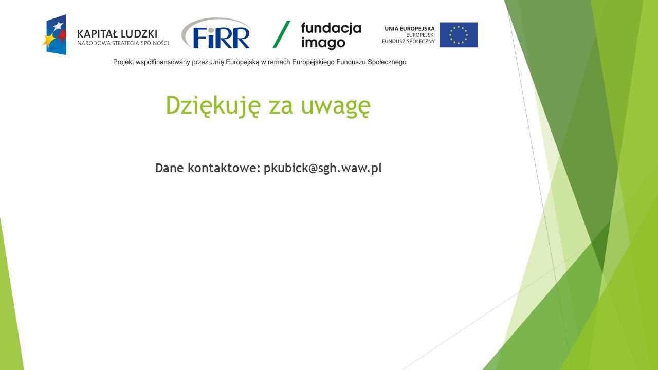 Dane kontaktowe: pkubick@sgh.waw.pl