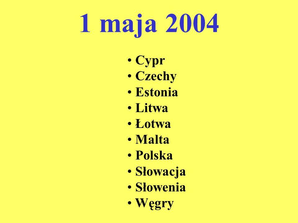 1 maja 2004 Cypr Czechy Estonia Litwa Łotwa Malta Polska Słowacja