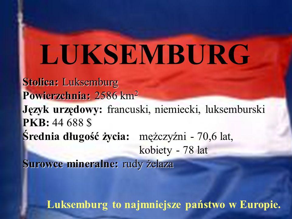 Luksemburg to najmniejsze państwo w Europie.