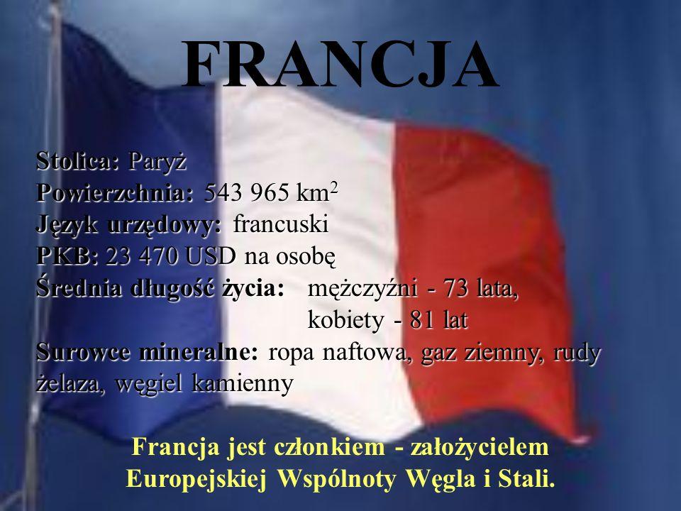 FRANCJA Stolica: Paryż Powierzchnia: 543 965 km2