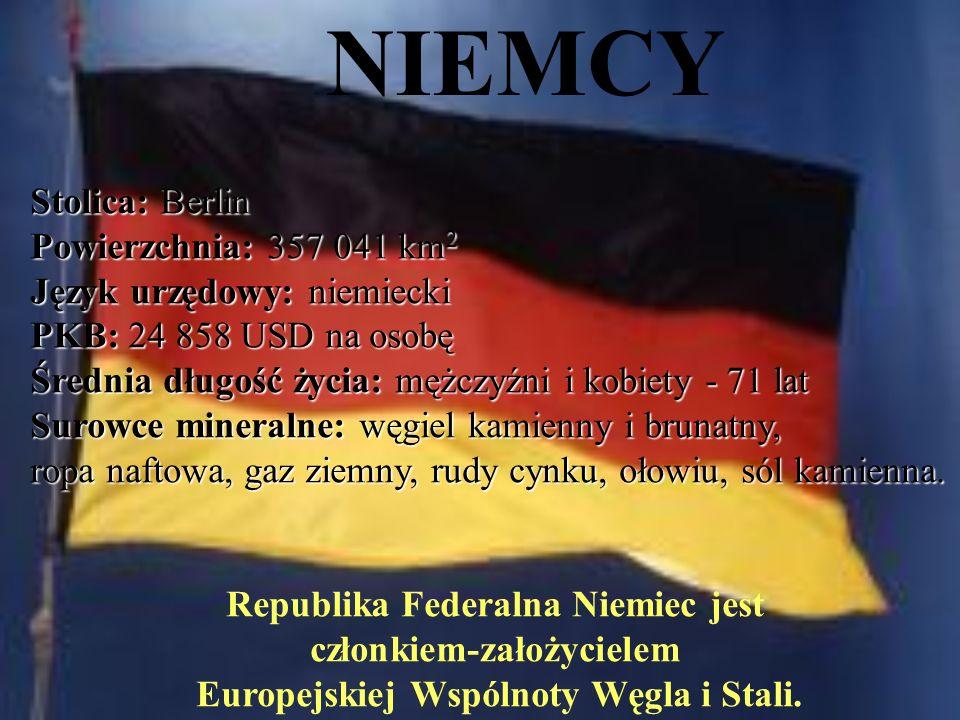NIEMCY Stolica: Berlin Powierzchnia: 357 041 km2