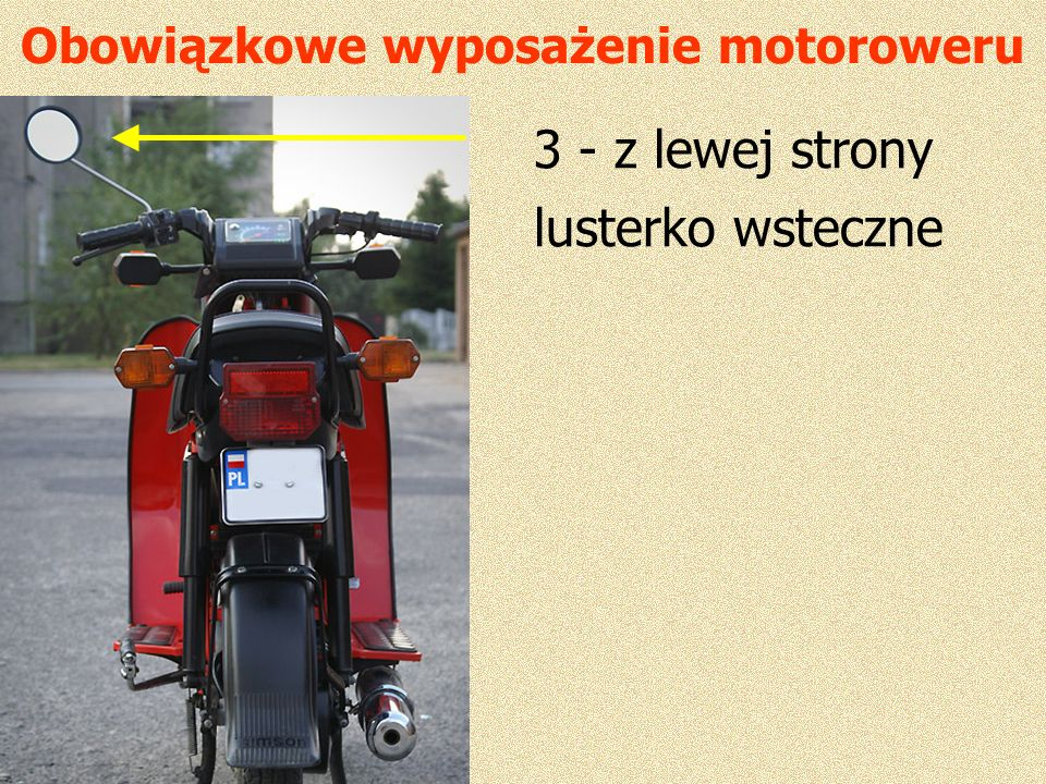Obowiązkowe wyposażenie motoroweru