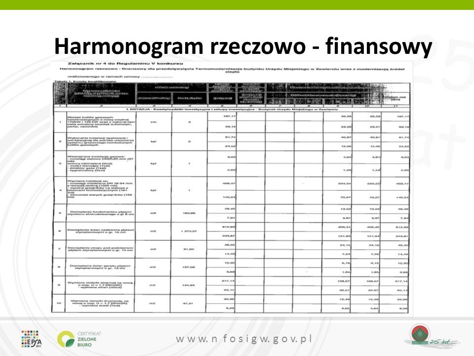 Harmonogram rzeczowo - finansowy