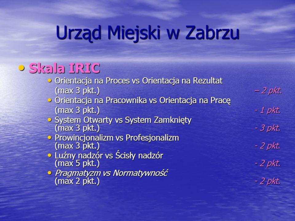 Urząd Miejski w Zabrzu Skala IRIC
