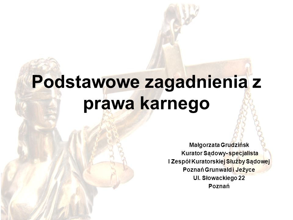 Podstawowe zagadnienia z prawa karnego
