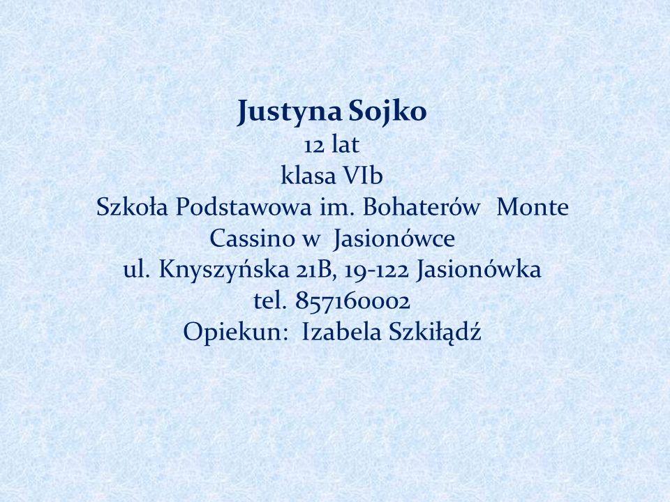 Justyna Sojko 12 lat klasa VIb