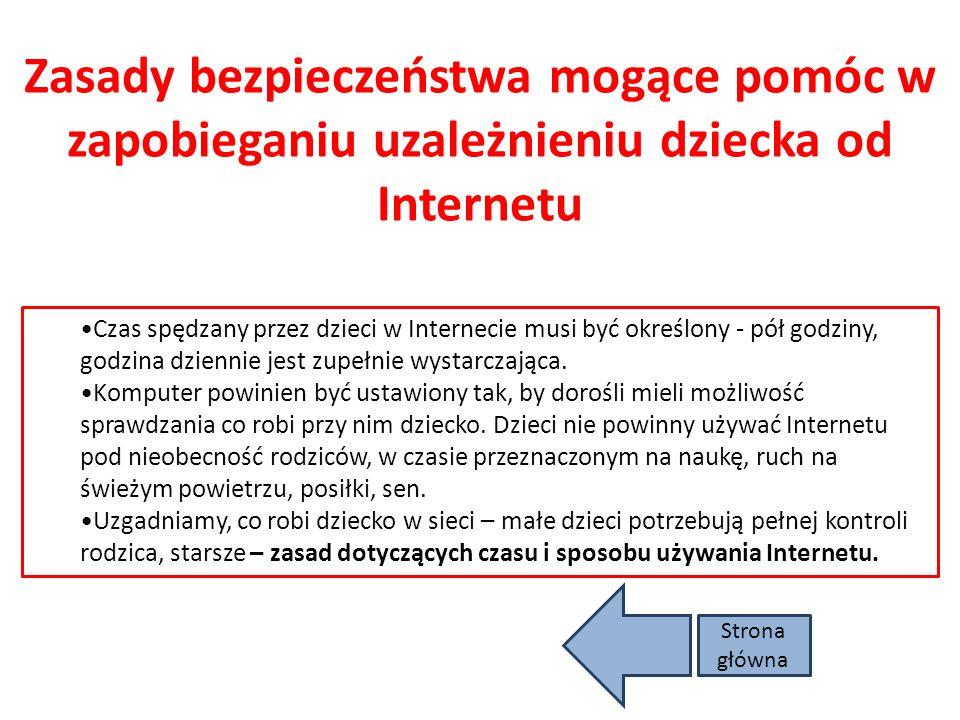 Zasady bezpieczeństwa mogące pomóc w zapobieganiu uzależnieniu dziecka od Internetu