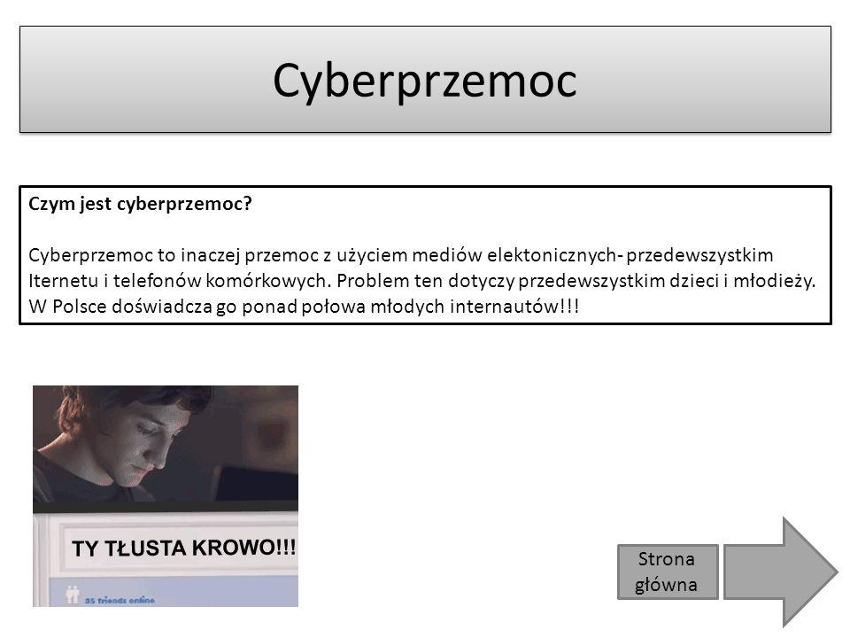 Cyberprzemoc Czym jest cyberprzemoc