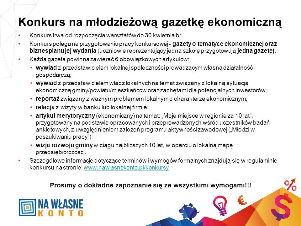Konkurs na młodzieżową gazetkę ekonomiczną