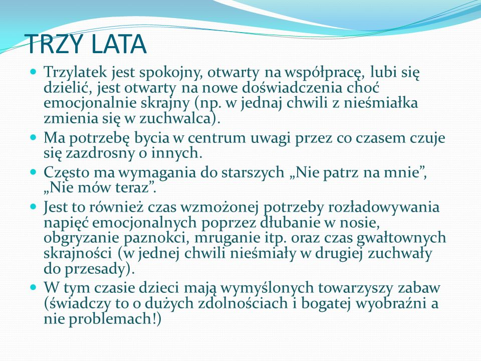 TRZY LATA