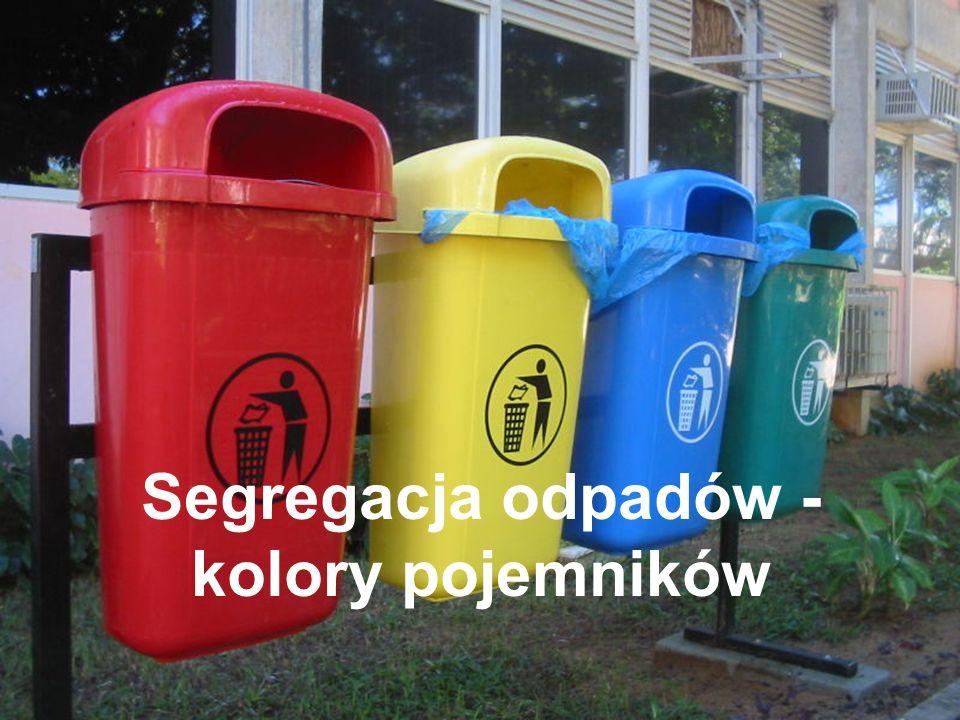 Segregacja odpadów - kolory pojemników