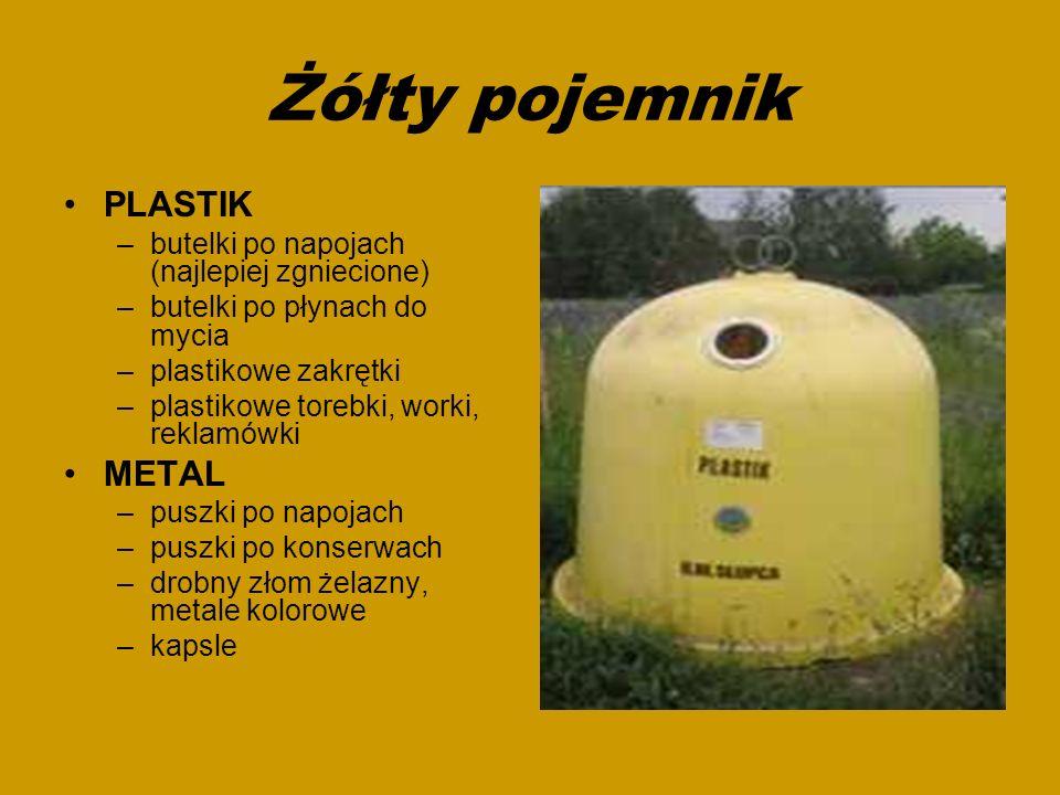 Żółty pojemnik PLASTIK METAL