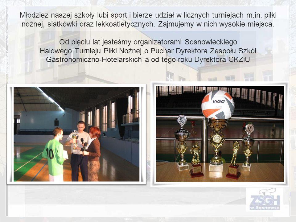 Młodzież naszej szkoły lubi sport i bierze udział w licznych turniejach m.in.