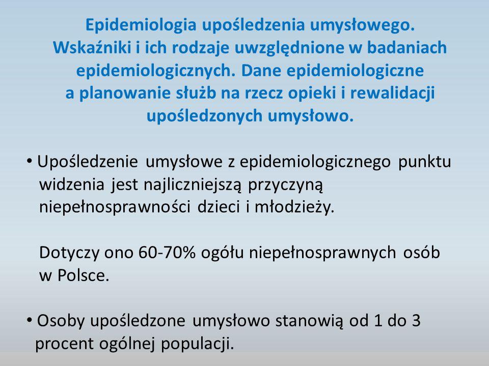 Epidemiologia upośledzenia umysłowego.