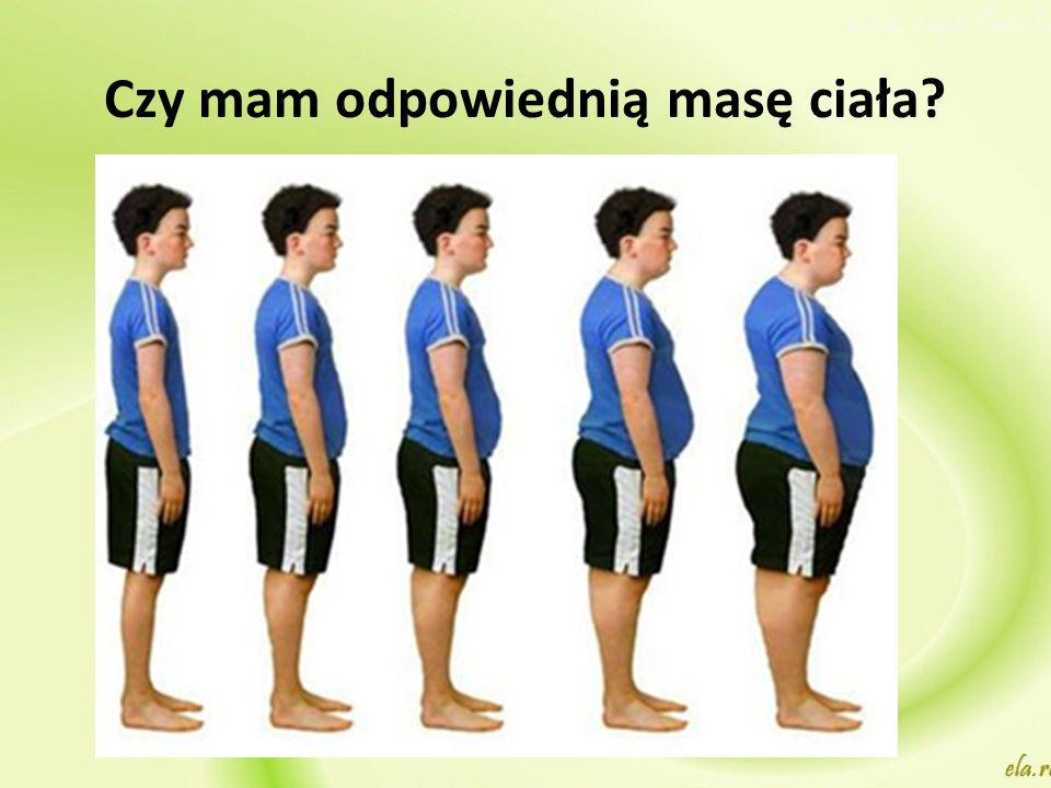 Czy mam odpowiednią masę ciała