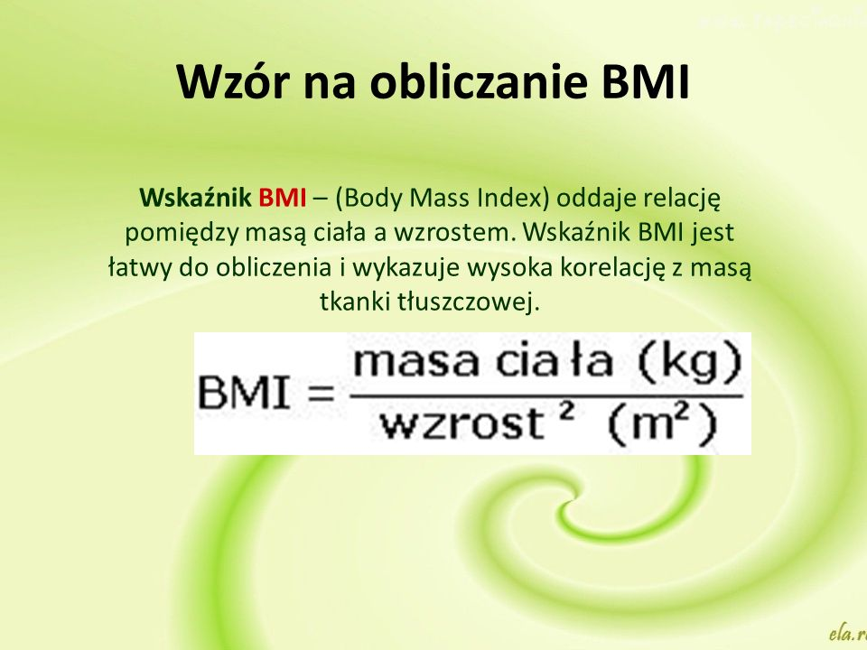 Wzór na obliczanie BMI