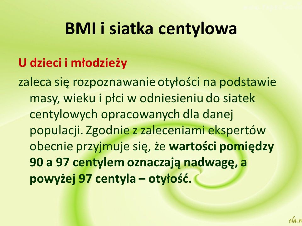 BMI i siatka centylowa U dzieci i młodzieży