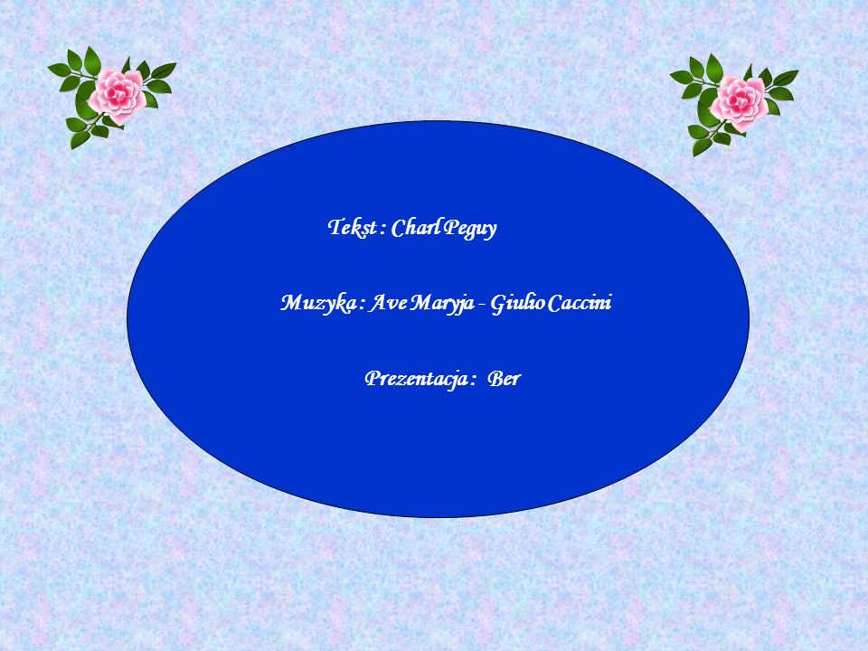Muzyka : Ave Maryja - Giulio Caccini