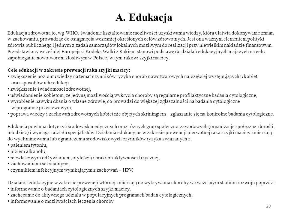 A. Edukacja
