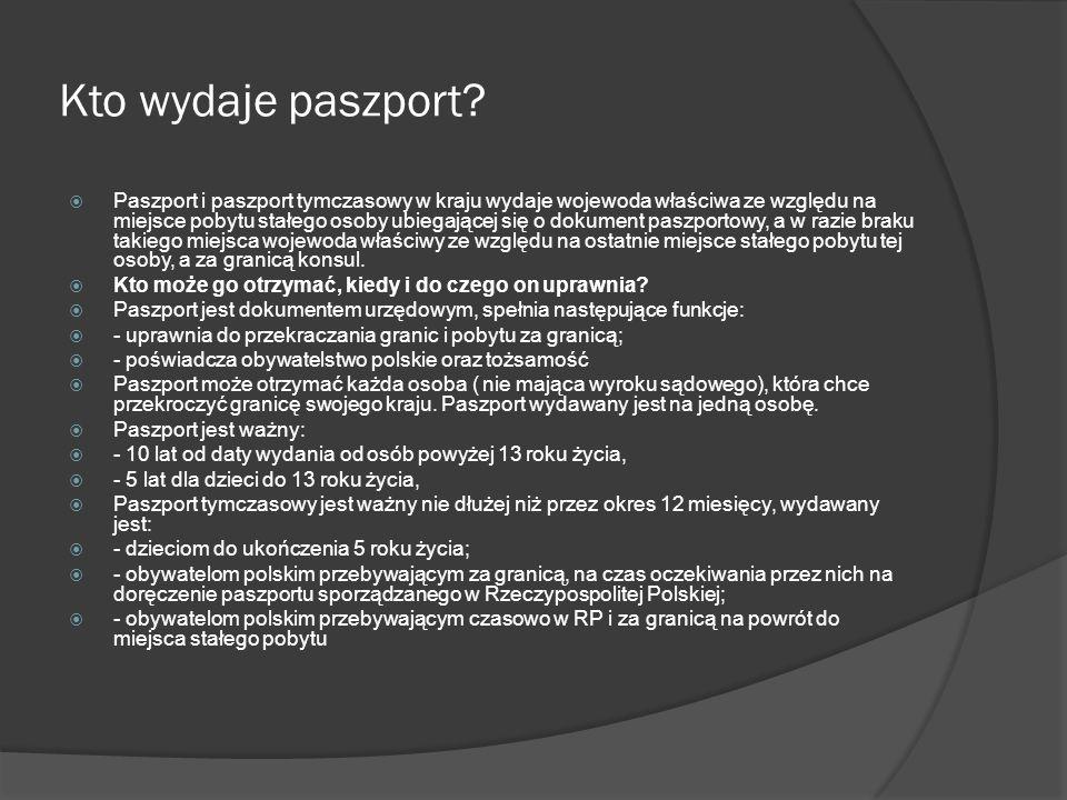 Kto wydaje paszport