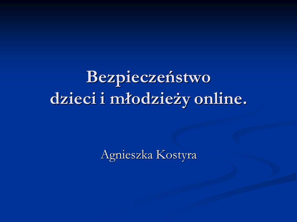 Bezpieczeństwo dzieci i młodzieży online.