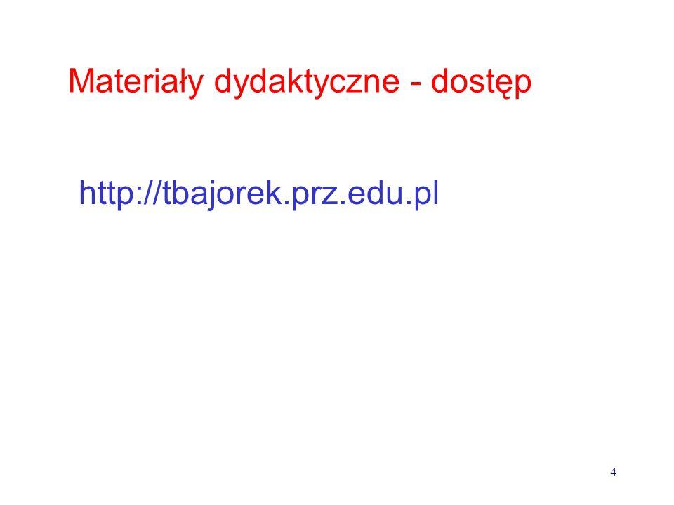 Materiały dydaktyczne - dostęp