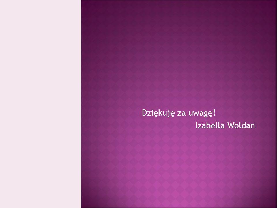 Dziękuję za uwagę! Izabella Woldan