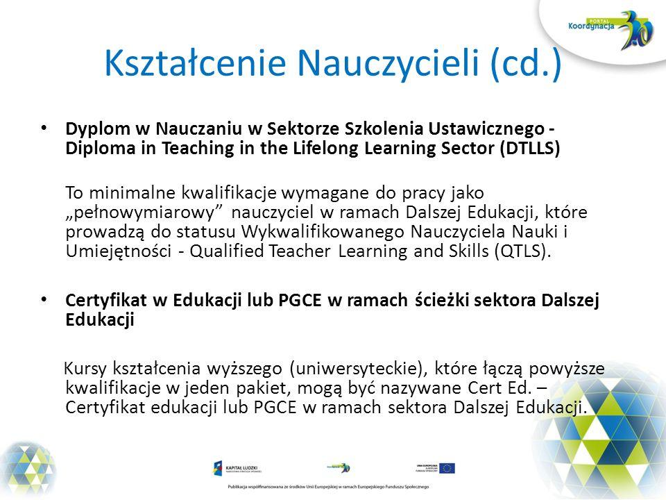 Kształcenie Nauczycieli (cd.)