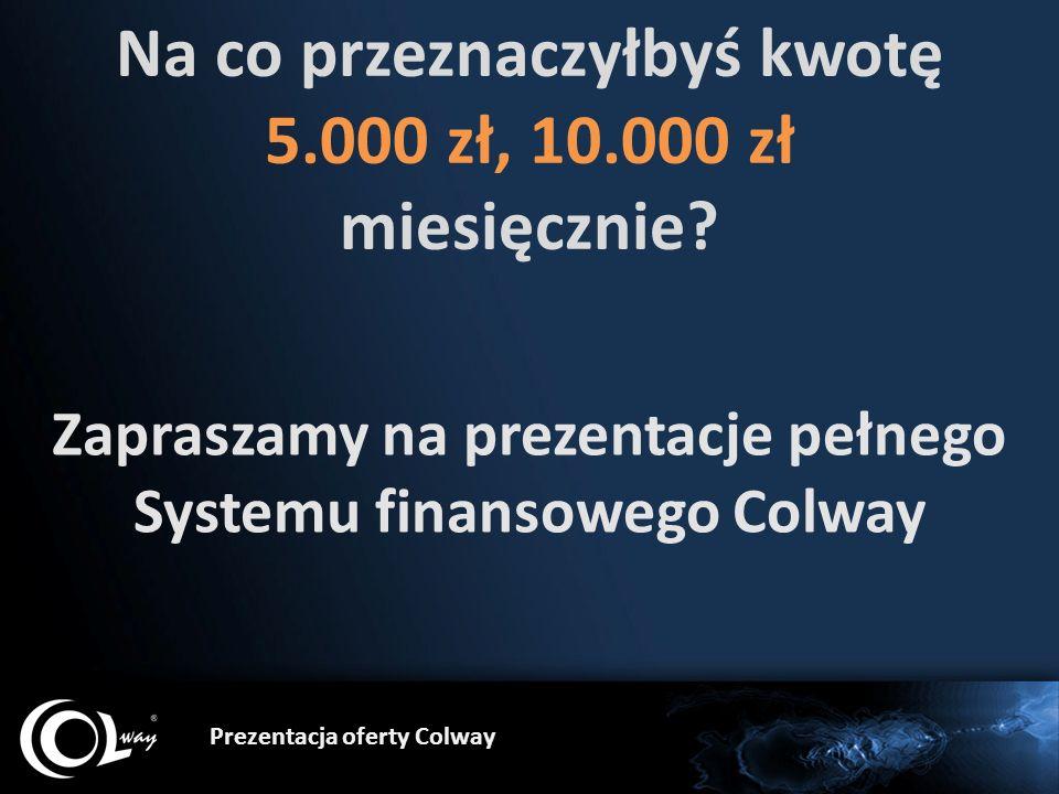 Na co przeznaczyłbyś kwotę 5.000 zł, 10.000 zł miesięcznie