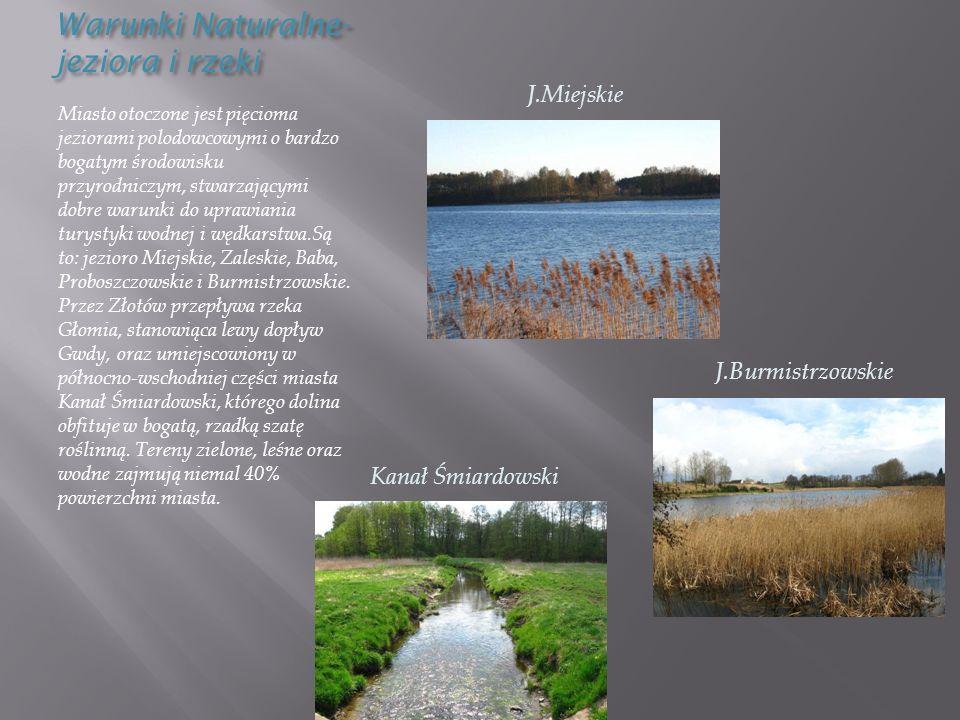 Warunki Naturalne-jeziora i rzeki
