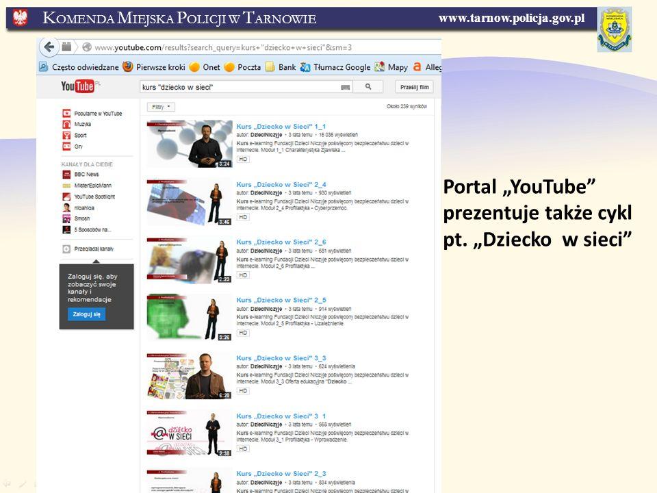 """Portal """"YouTube prezentuje także cykl pt. """"Dziecko w sieci"""