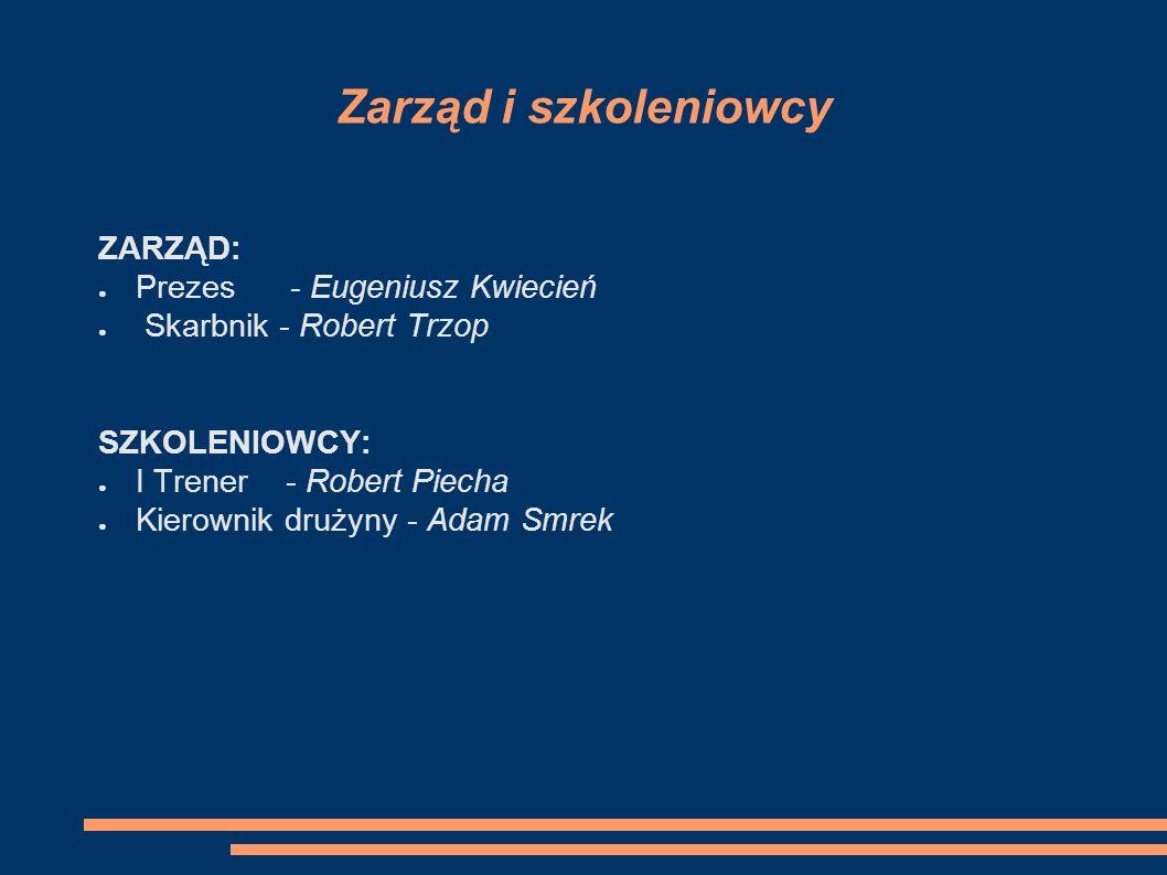 Zarząd i szkoleniowcy ZARZĄD: Prezes - Eugeniusz Kwiecień