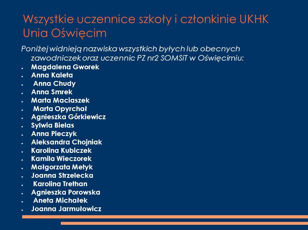 Wszystkie uczennice szkoły i członkinie UKHK Unia Oświęcim