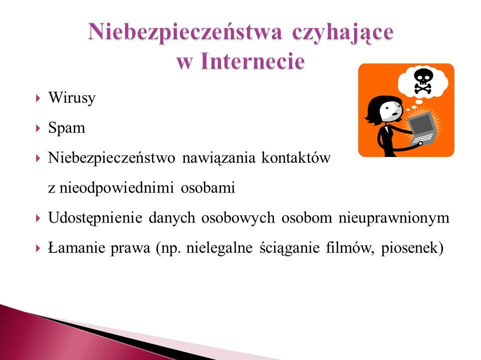 Niebezpieczeństwa czyhające w Internecie