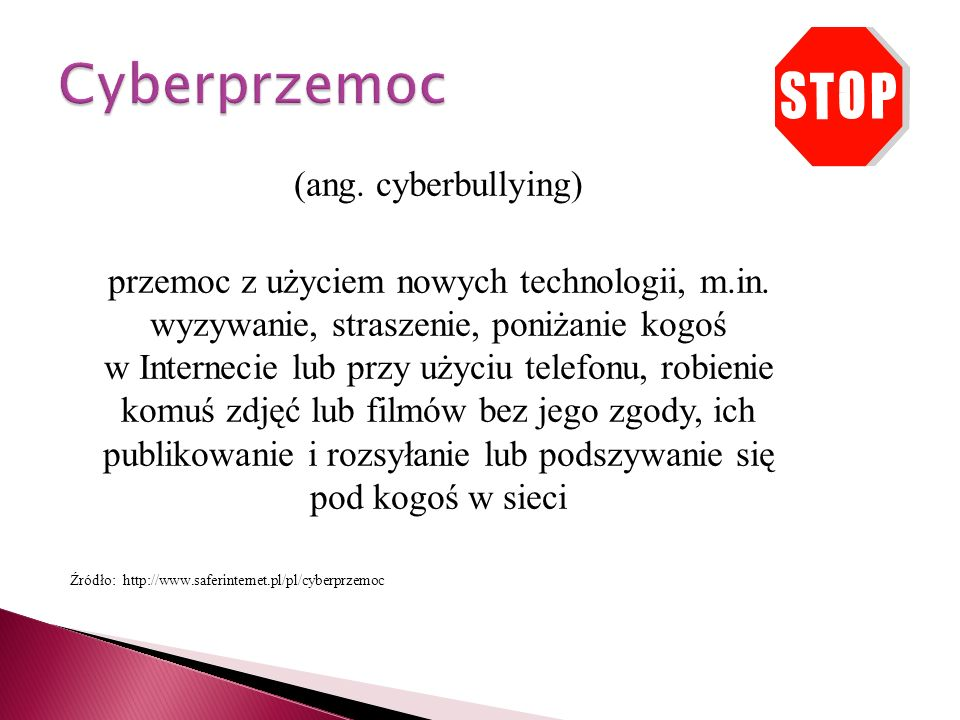 Cyberprzemoc (ang. cyberbullying)