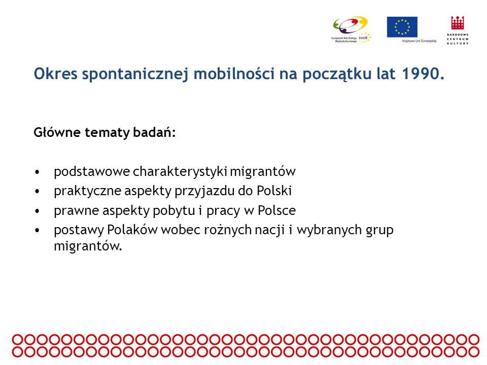 Okres spontanicznej mobilności na początku lat 1990.