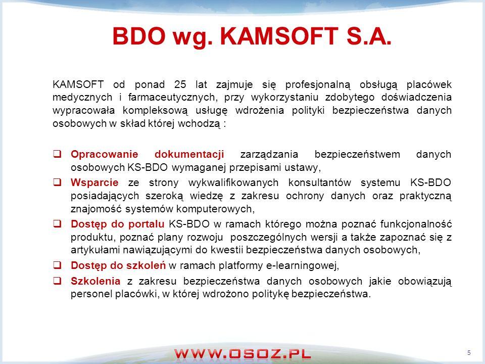 BDO wg. KAMSOFT S.A.