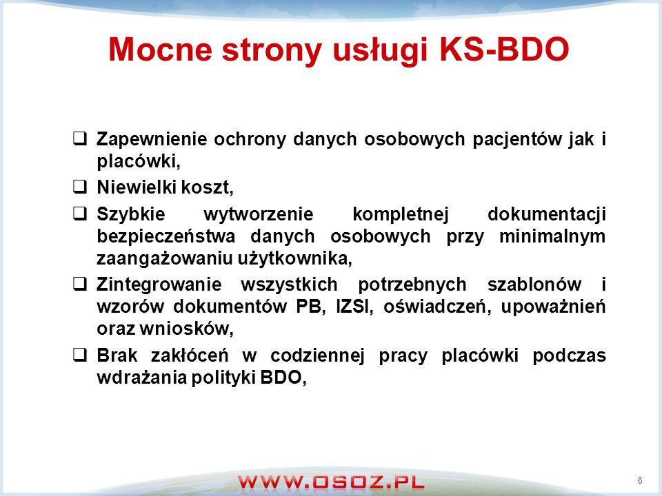 Mocne strony usługi KS-BDO