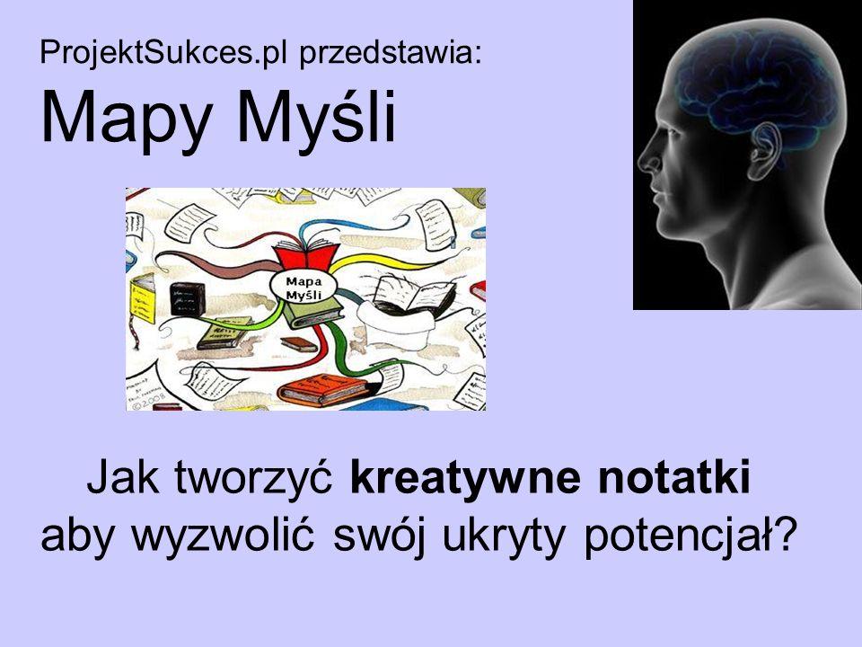 ProjektSukces.pl przedstawia: Mapy Myśli