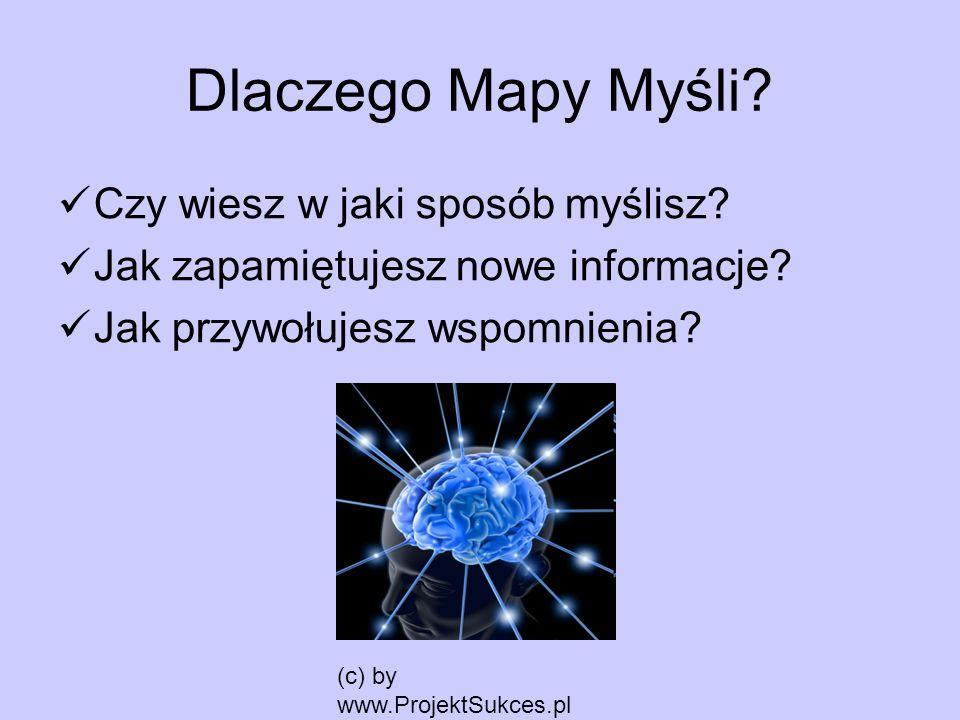 Dlaczego Mapy Myśli Czy wiesz w jaki sposób myślisz