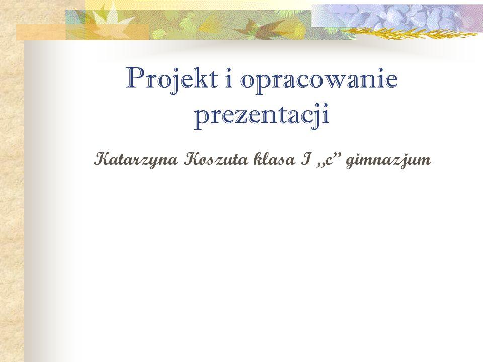Projekt i opracowanie prezentacji