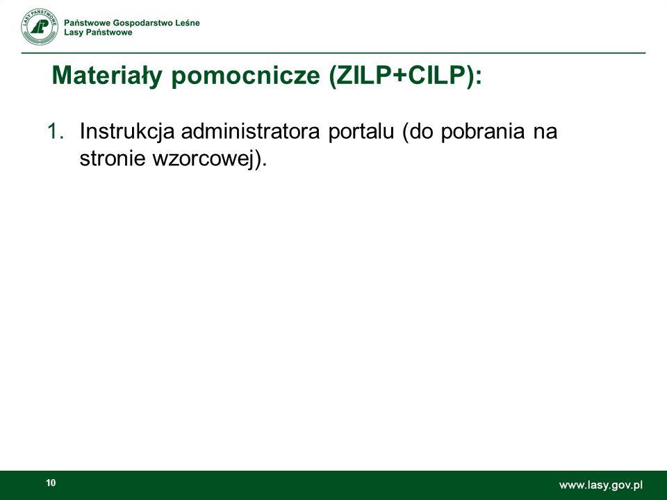 Materiały pomocnicze (ZILP+CILP):