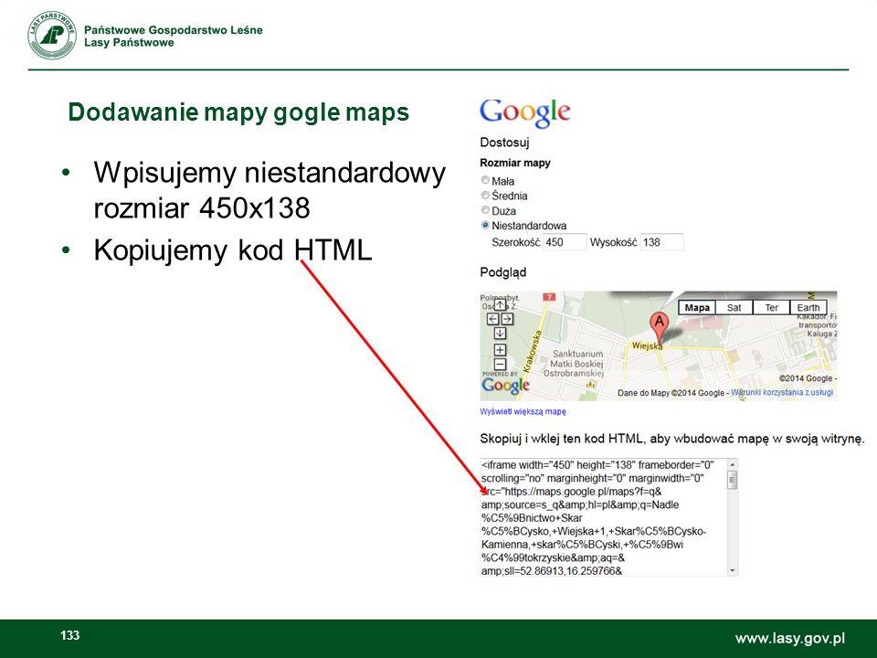 Dodawanie mapy gogle maps