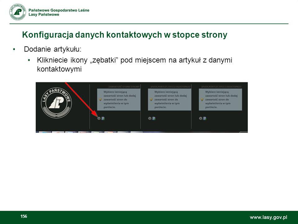 Konfiguracja danych kontaktowych w stopce strony