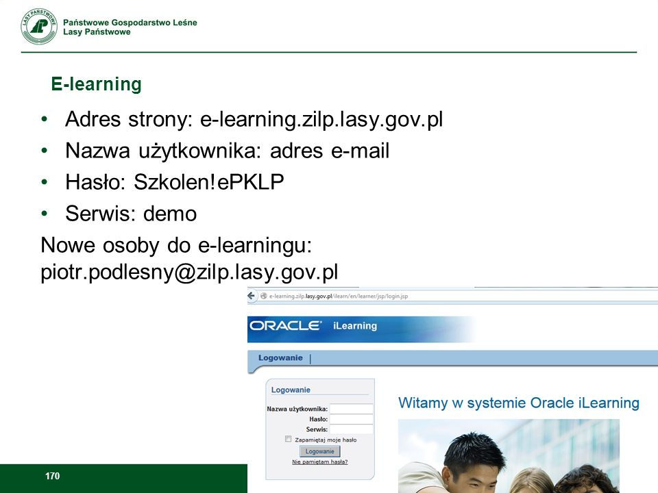 Adres strony: e-learning.zilp.lasy.gov.pl