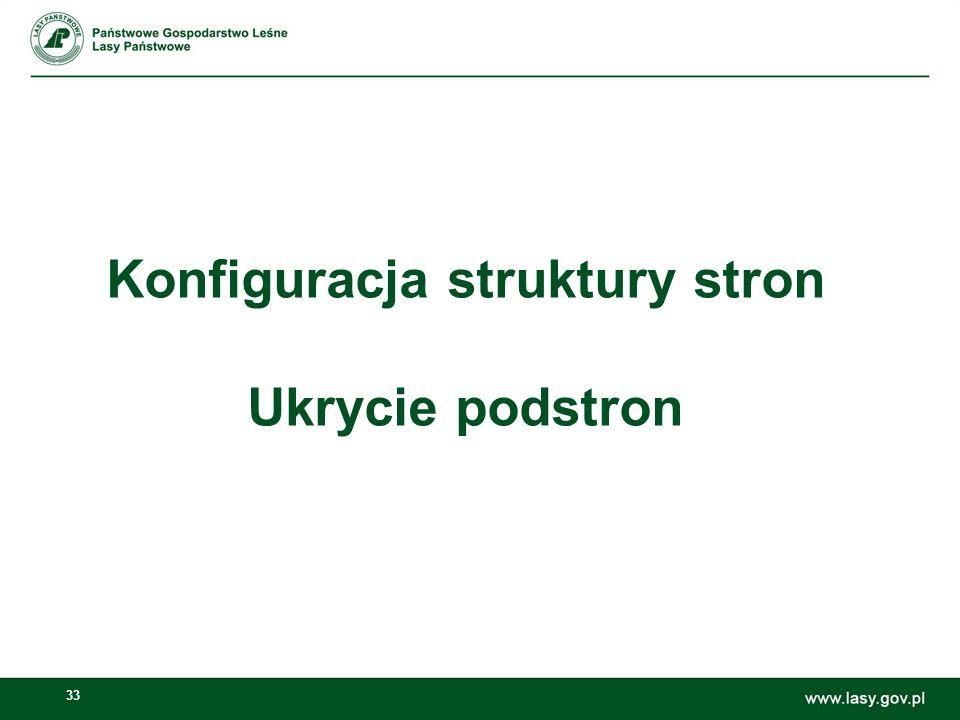 Konfiguracja struktury stron