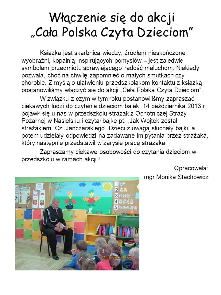 """Włączenie się do akcji """"Cała Polska Czyta Dzieciom"""