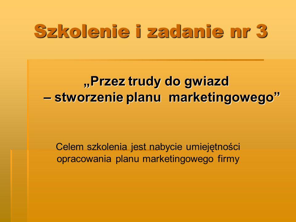 """""""Przez trudy do gwiazd – stworzenie planu marketingowego"""